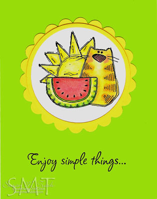 Enjoy simple things... Card