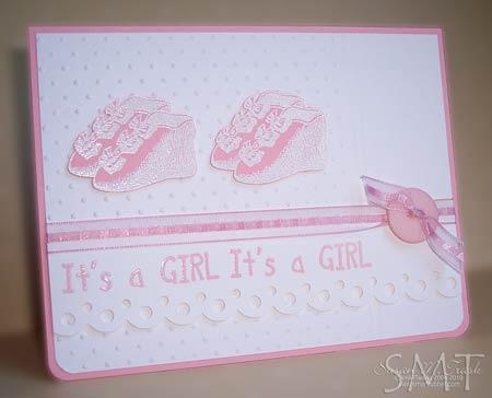 twin card - girl